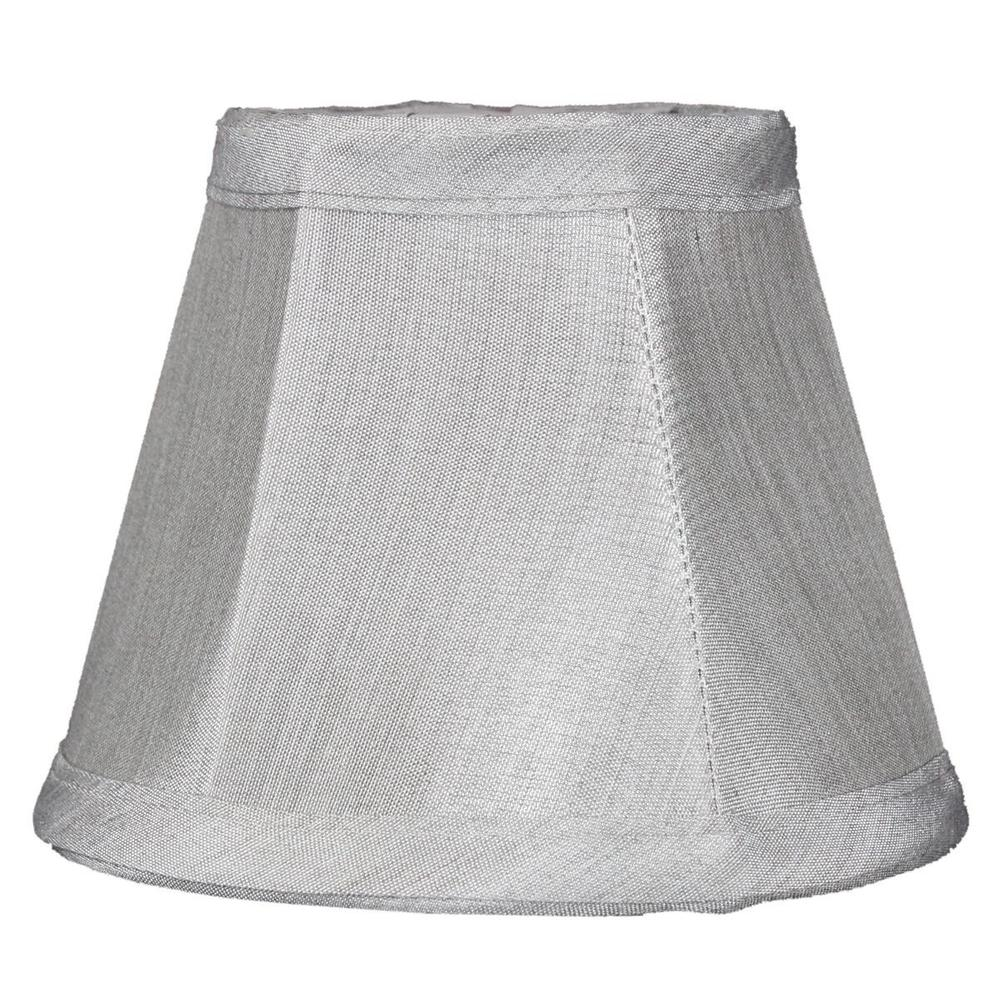 "5""W x 4""H Set of 6 Gray Stretch Clip-On Candlelabra Clip-On Lamp shade"