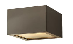 Kube 1-Light Outdoor Flush Mount in Bronze