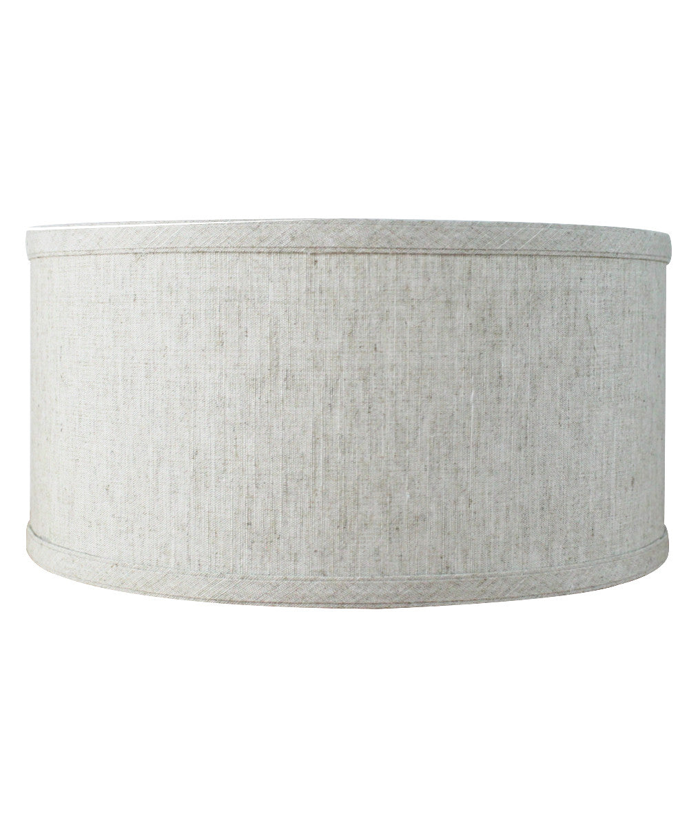 Textured Oatmeal  Shallow Drum Lampshade 12x12x06