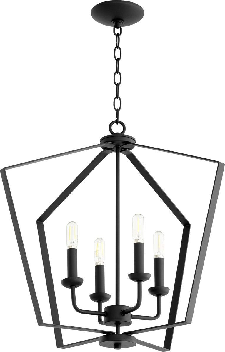 "23""W 4-light Entry Foyer Hall Chandelier Noir"