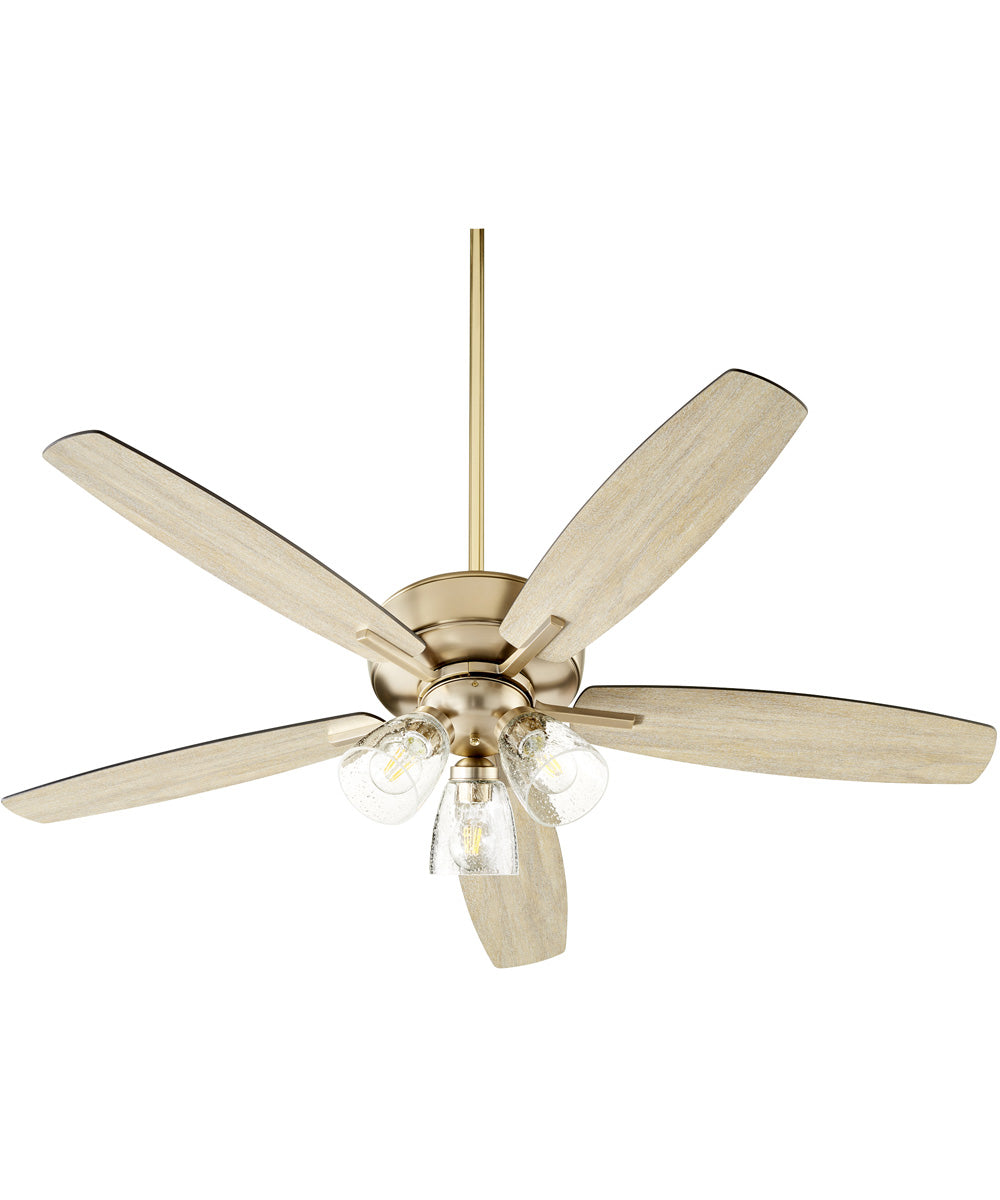 Breeze 3-light Ceiling Fan Aged Brass