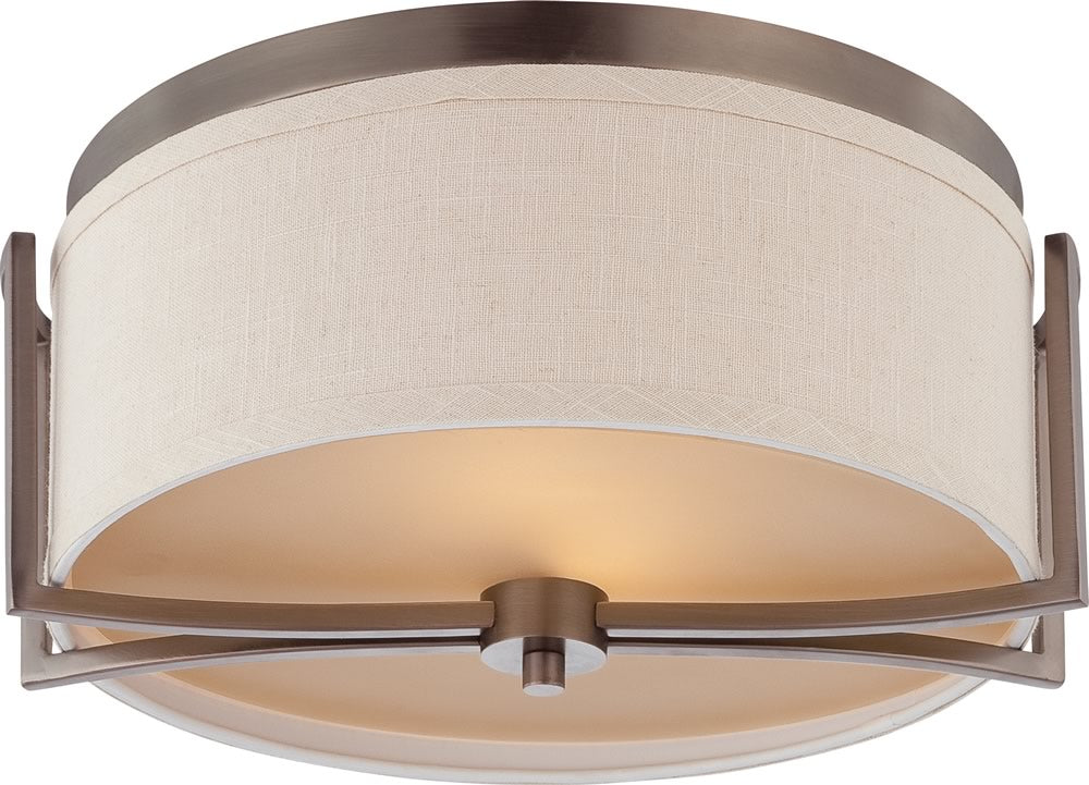 "15""W Gemini 2-Light Close-to-Ceiling Hazel Bronze"