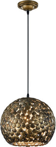 0-002108>Frieda 1-Light  Pendant Antique Brass