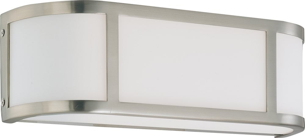 "16""W Odeon 2-Light Vanity & Wall Brushed Nickel"
