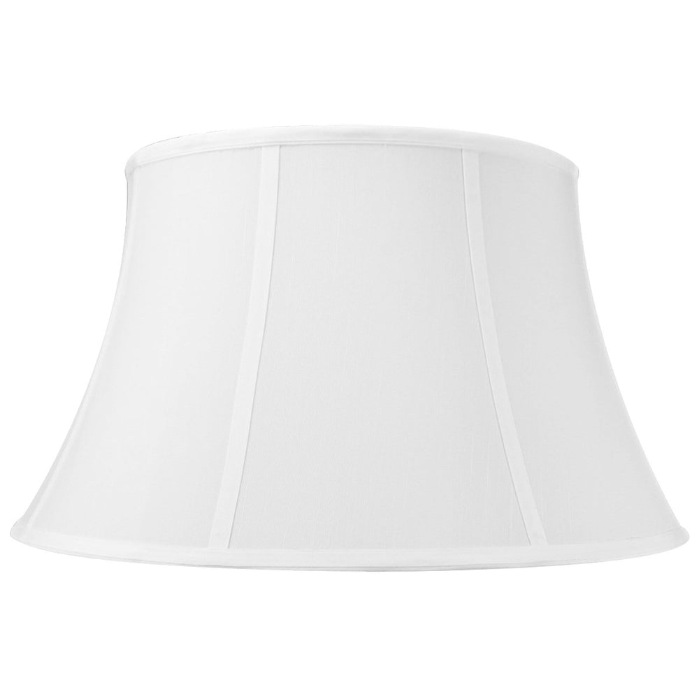 "18""W x 10""H White Floor Shantung Shade"