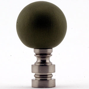 "1""H Ceramic  35mm Tarragon Ball Nickel Base Finial"