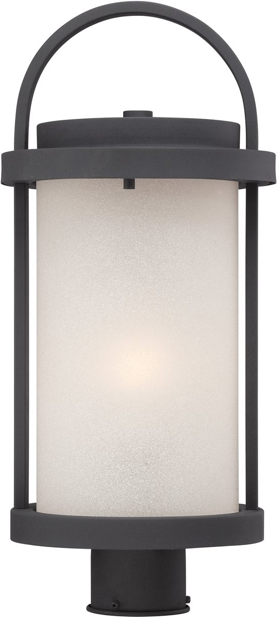 "20""H Willis 1-Light Outdoor Textured Black / Antique White"