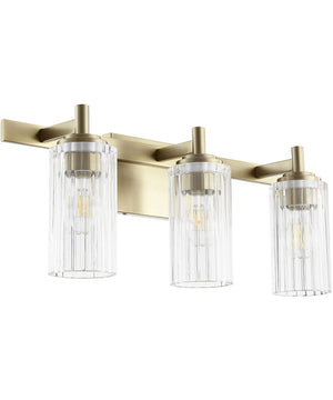 "23""W 3-light Bath Vanity Light Aged Brass"