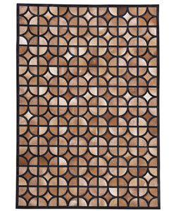 "60""W Jingjin Medium Rug Black/Brown"