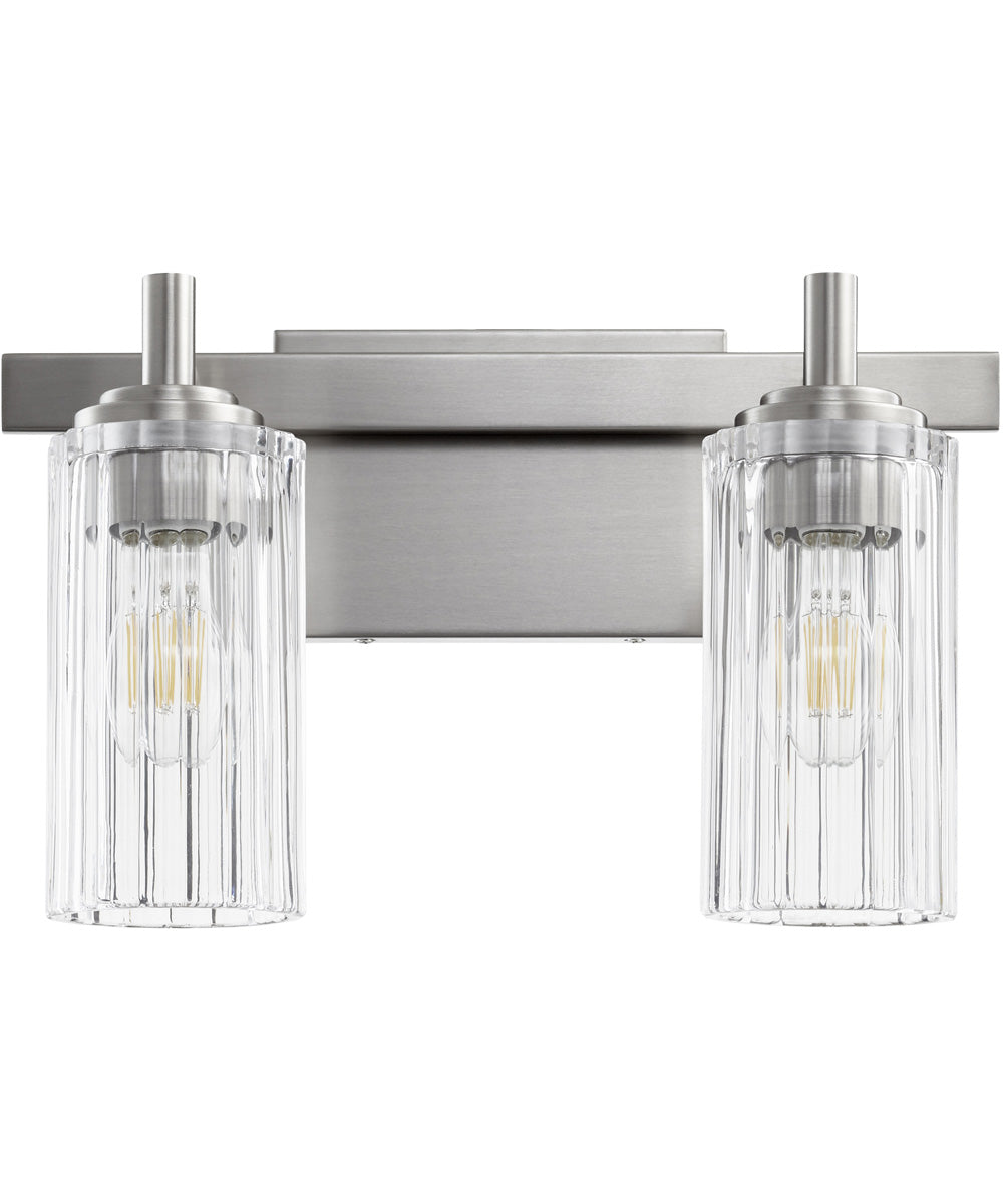 "15""W 2-light Bath Vanity Light Satin Nickel"