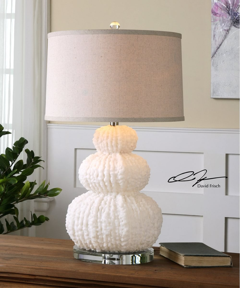 "28""H Fontanne Shell Ivory Table Lamp"