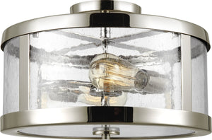 "15""W Harrow 2-Light Semi Flush Mount Polished Nickel"