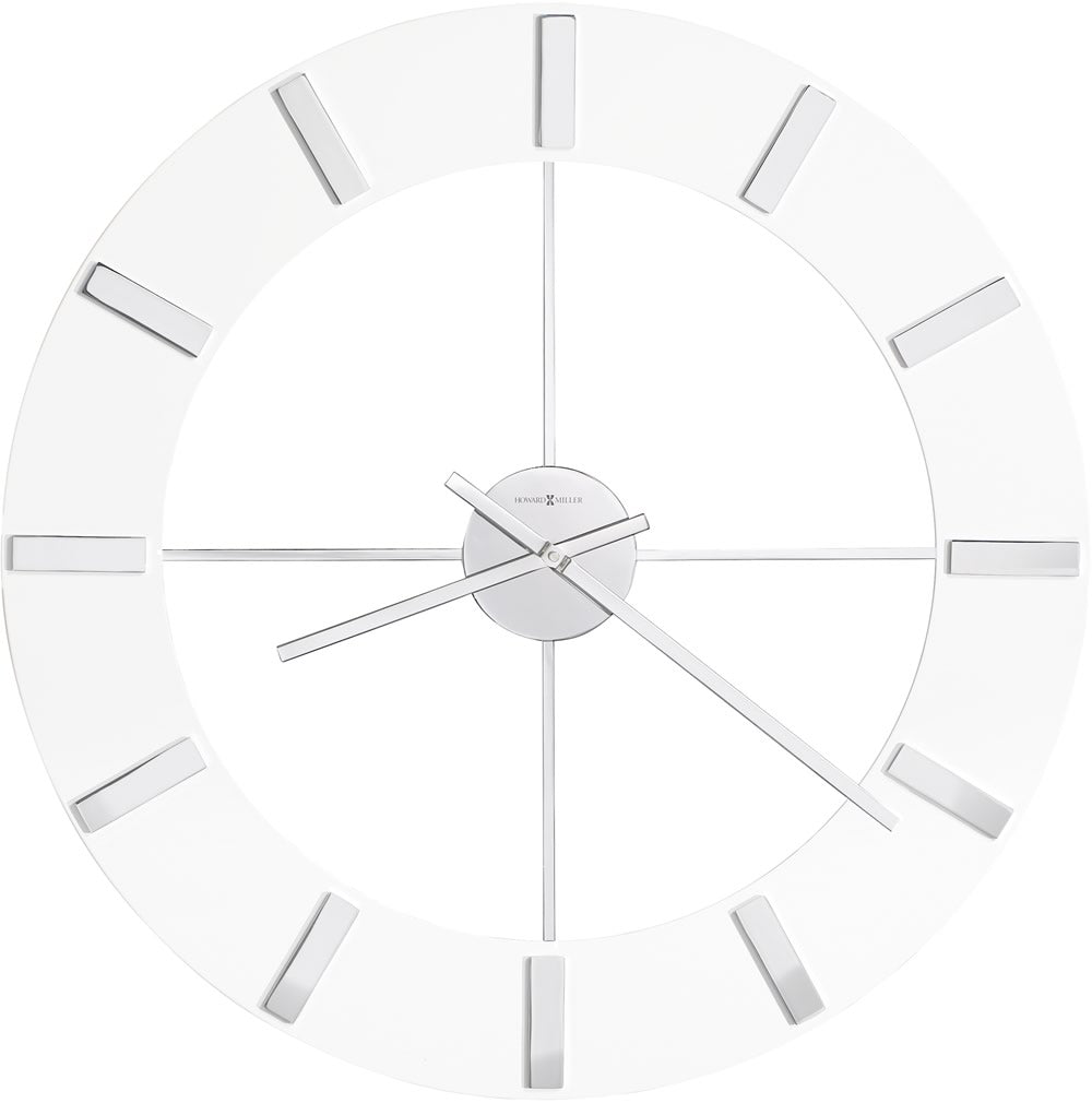 "30""H Pearl Wall Clock Gloss White"
