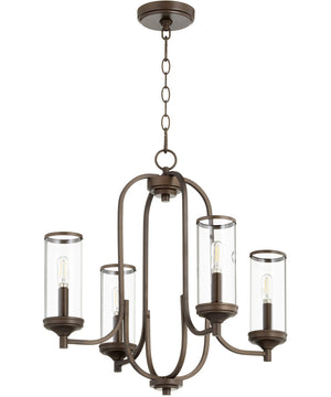 "22""W Collins 4-light Chandelier Oiled Bronze"