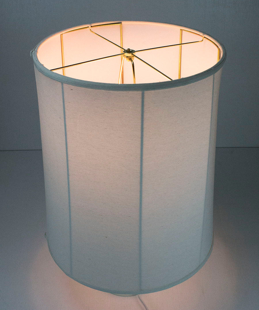 15x16x19 Collapsible Drum Lamp Shade Premium Light Oatmeal Linen