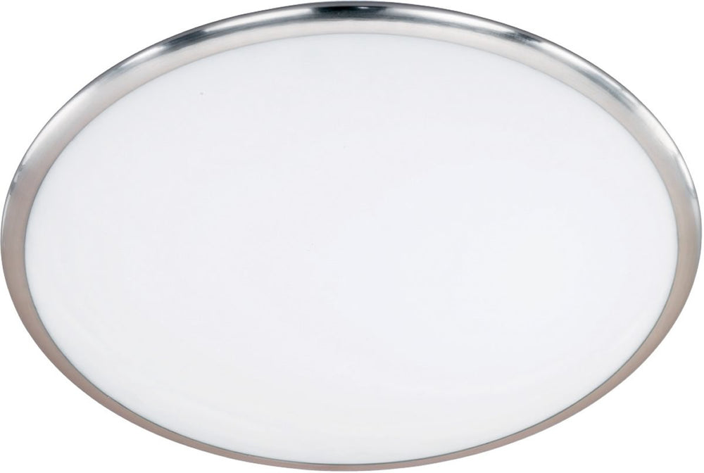 "16""W Seattle LED Ceiling Light Nickel-Matte"