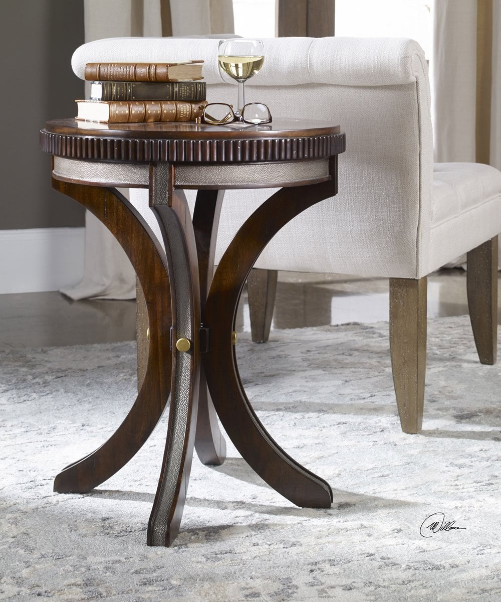 "25""H Grae Walnut Accent Table"