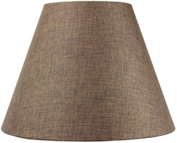"16""W  x 12""H Hard Back Empire Lampshade - Chocolate Burlap"