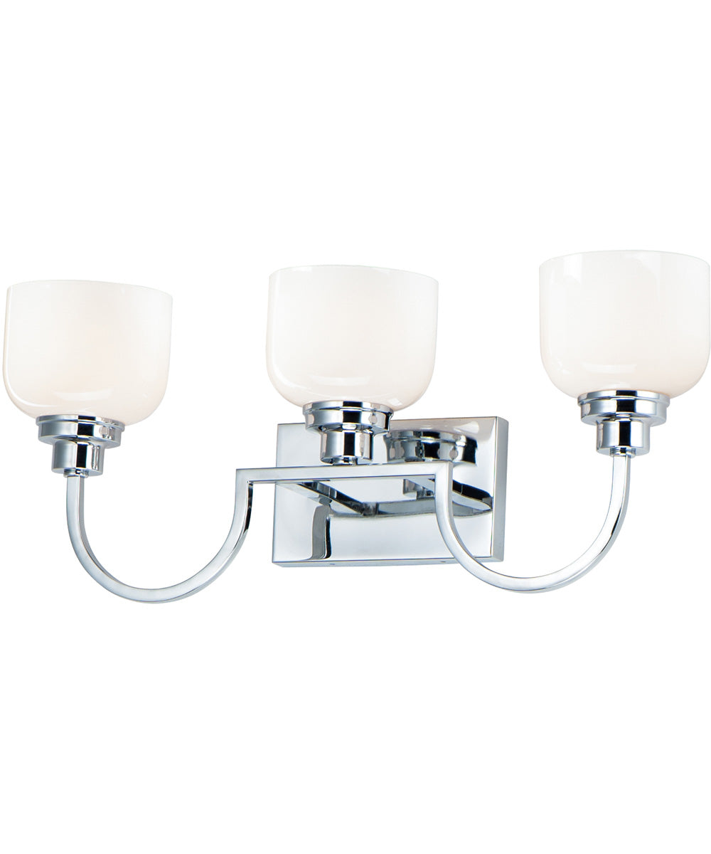 "25""W Swale 3-Light Bath Vanity Polished Chrome"