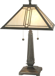 2-Light Table Lamp Mica Bronze