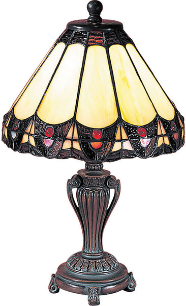 Dale Tiffany Peacock Accent Lamp Antique Bronze 8034640