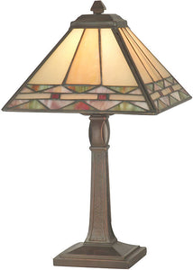 "14""h Slayter Accent Lamp Antique Brass"
