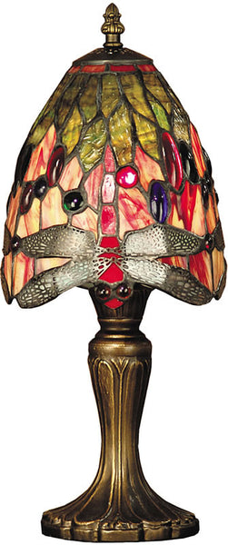 Dale Tiffany Vickers Tiffany Accent Lamp Antique Brass Plating TT101287