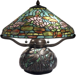 Dale Tiffany Alcoba 3-Light Table Lamp Antique Bronze TT12330