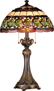 Dale Tiffany Aldridge 2-Light Table Lamp Antique Bronze TT101110