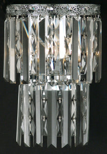 Dale Tiffany 2-Light Glass Wall Sconce Polished Chrome GW10733