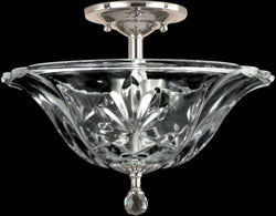 Angelino Crystal Semi Flush Polished Chrome