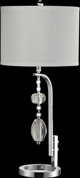 "32""H Ashland Crystal Table Lamp Polished Chrome"