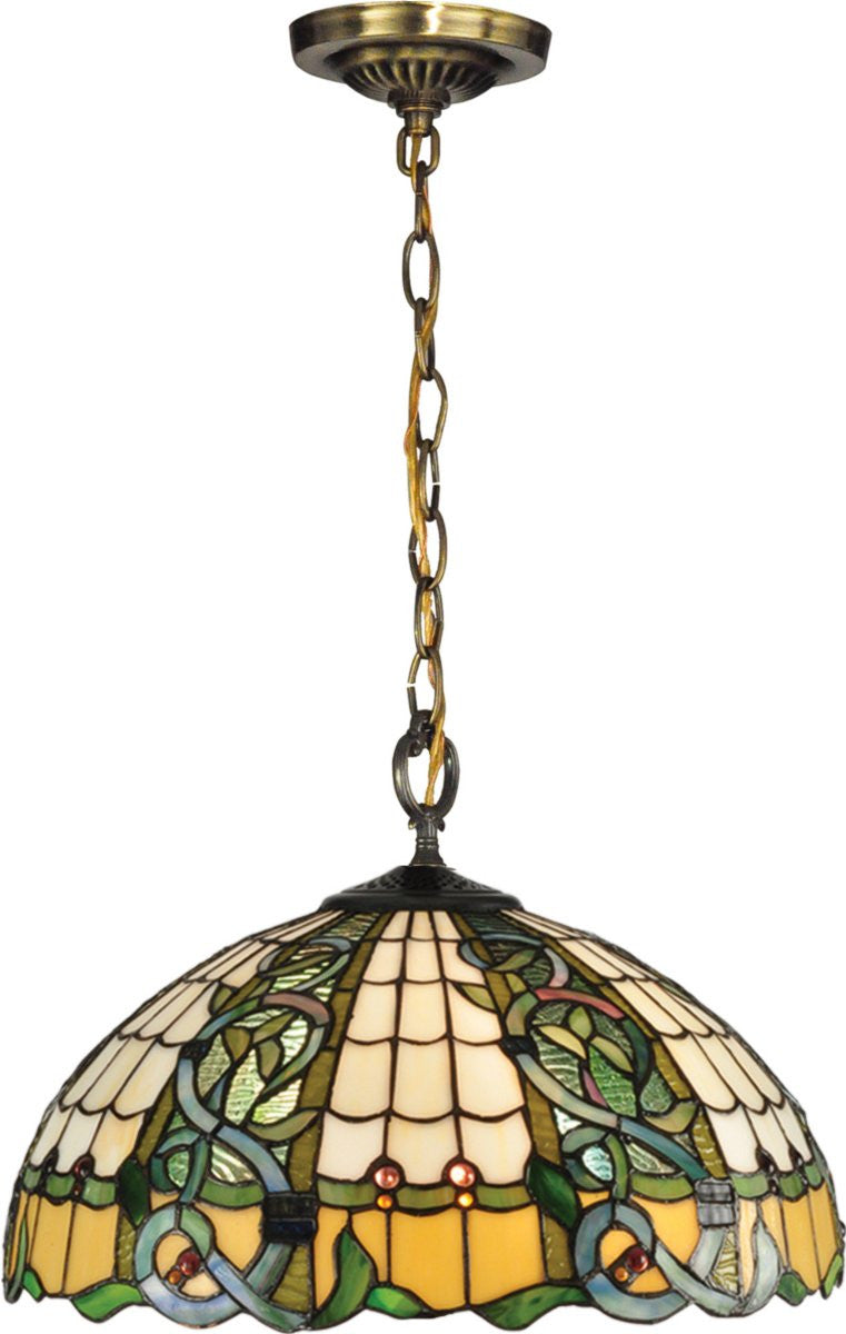 Asure 3-Light Pendant Antique Brass