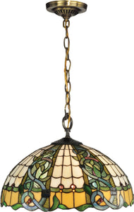 Dale Tiffany Asure 3-Light Pendant Antique Brass TH13113