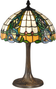 Dale Tiffany Asure Tiffany Table Lamp Antique Bronze TT15086