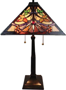 Dale Tiffany Baja Tiffany Table Lamp Antique Bronze TT14252