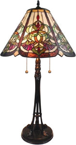 Dale Tiffany Baja Tiffany Table Lamp Antique Bronze TT14253
