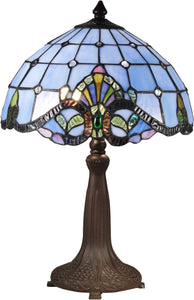 Baroque Tiffany Table Lamp Antique Bronze