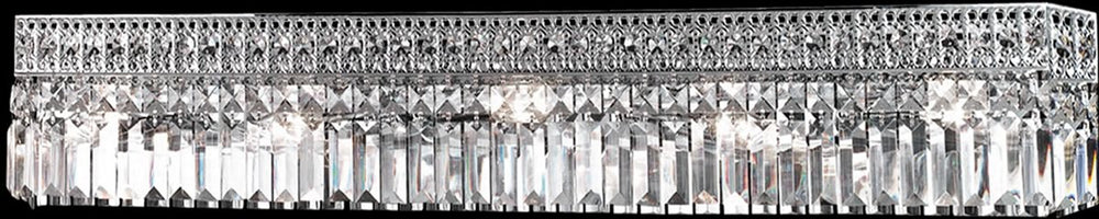 "36""w 5-Light Crystal Wall Sconce Polished Chrome"