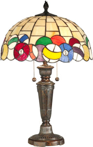 Dale Tiffany 2-Light Tiffany Table Lamp Fieldstone TT10956