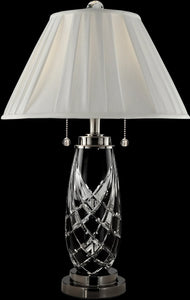 Dale Tiffany Black Shield Crystal Table Lamp Antique Bronze GT13268