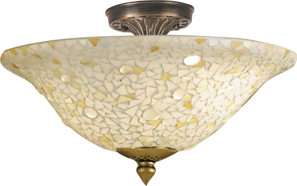 Blake 3-Light Flush Mount Antique Brass