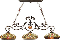 Dale Tiffany 3-Light Tiffany Hanging Fixture Antique Golden Sand TH101071