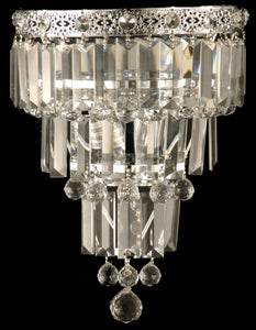Dale Tiffany 2-Light Glass Wall Sconce Polished Chrome GW10732