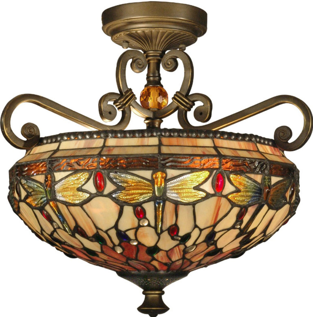Briar 2-Light Flush Mount Antique Golden Sand