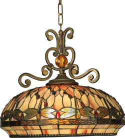 Dale Tiffany Briar 3-Light Pendant Antique Golden Sand TH10097