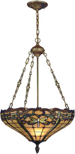 Dale Tiffany Cabrini 3-Light Pendant Antique Brass TH12223