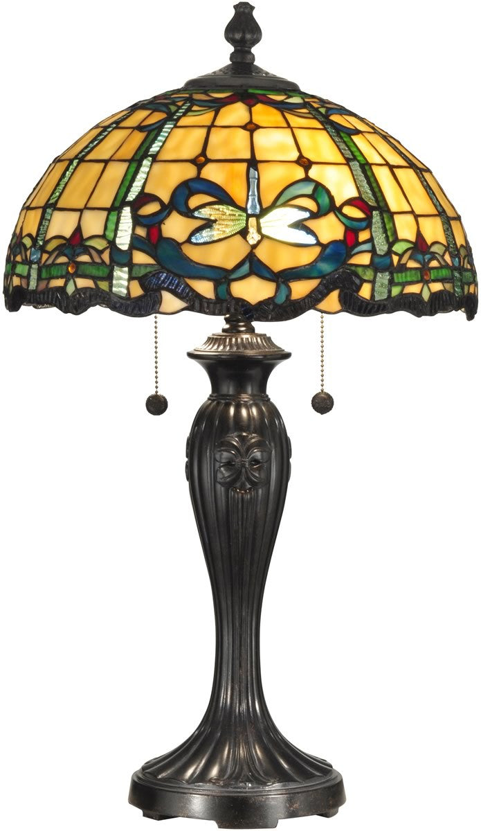 "27""H Dragonfly Cabrini 2-Light Table Lamp Fieldstone"