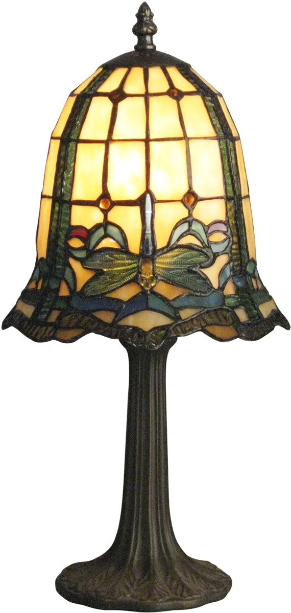 "20""H Dragonfly Cabrini 1-Light Table Lamp Antique Brass"