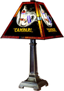 "22""h 1-Light Tiffany Table Lamp Antique Brass"